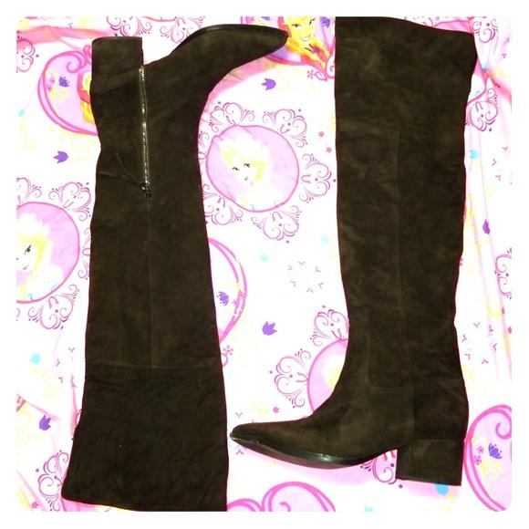 66287c705e9c Miu Miu tall brown Suede leather boots sz 37. M 5bfe8e37df0307c4d6eb638e